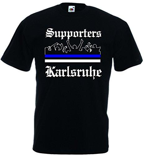 World-of-Shirt Herren T-Shirt Karlsruhe Ultras Supporters|L