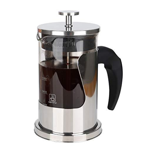 YQQ Cafetiere French Press Kaffeemaschine 600ml, Kaffeepresse und Teemaschinen mit hitzewiderstandsfähigem Borosilikatglas & 304 Edelstahl