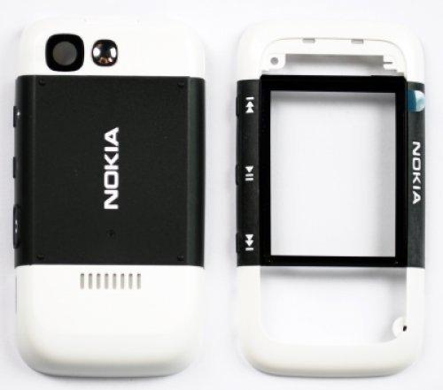 Guscio per Nokia 5300 WhiteBlack (Front+B.C+Lens+Fotocamera) (Original)