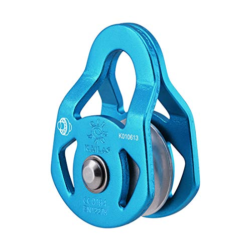 KAILAS Mobile Micro Climbing Pulley CE UIAA Certified Single/Double Rope Pulley Small Lightweight 28kN Heavy Duty Aluminum/Steel