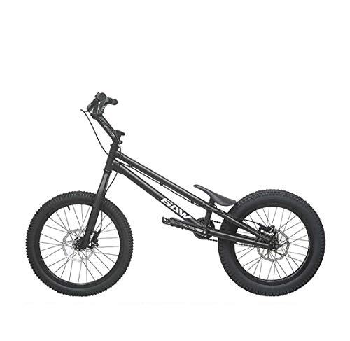 AISHFP 20 Pouces pour Adultes Rue Trial BMX Bike, Escalade Rue Convenable Fantaisie Escalade vélo pour débutants Niveau Riders avancés Biketrial,Noir,Upgrade