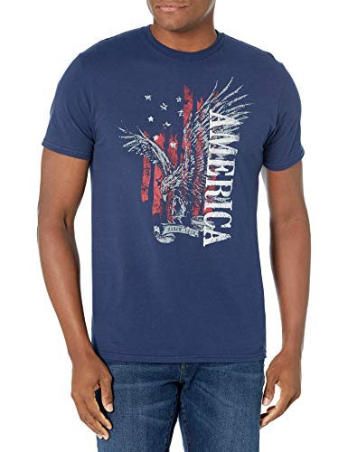 Hanes Men's Graphic Tee - Americana Collection, Eagle America, X-Large