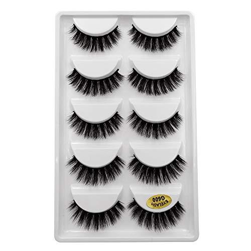 5 paire Vison Cils volumi neux, BZLine Natural Longs cils Maquillage pour les yeux
