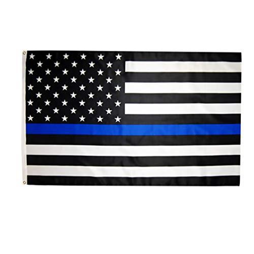 PRETYZOOM Dünne Blaue Linie Amerikanische Flagge Schwarz Blau Und Weiß Polizeifahne Geschenk für Strafverfolgungsbeamte