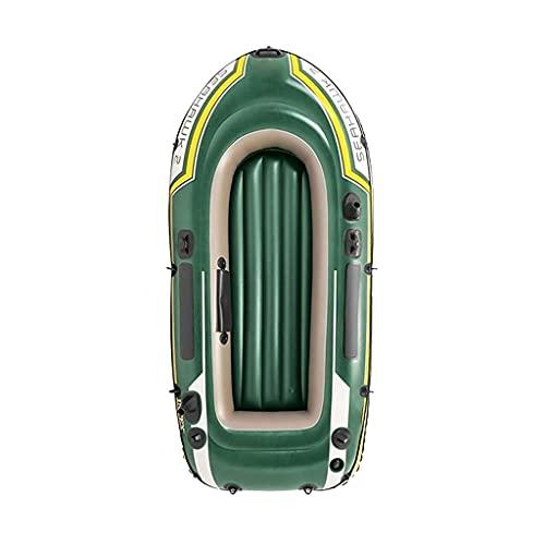 Thomm 2 Personas Goma Inflable Barco con Remo Espesado balsa Kayak Bote portátil para Pescar, Entretenimiento (Color : Green)