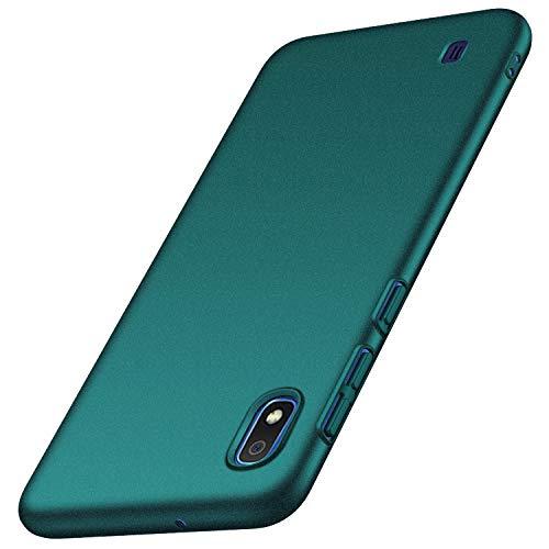 anccer Kompatibel mit Samsung Galaxy A10 Hülle [Serie Matte] Elastische Schockabsorption & Ultra Thin Design für Galaxy A10 (Kies Grün)