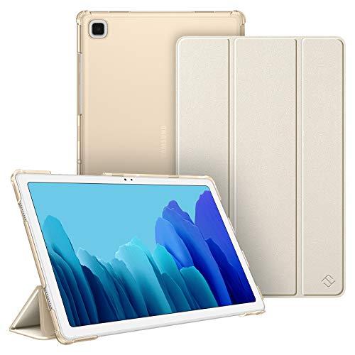 Fintie Hülle für Samsung Galaxy Tab A7 10.4 2020, Superdünn Schutzhülle mit durchsichtiger Rückseite Abdeckung Cover, Auto Schlaf/Wach für Galaxy Tab A7 10.4 SM-T500/T505/T507, Champagner Gold