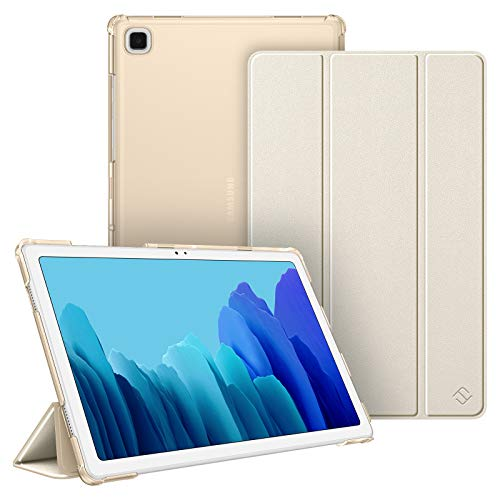 Fintie Hülle für Samsung Galaxy Tab A7 10.4 2020, Ultradünn Schutzhülle mit transparenter Rückseite Abdeckung Cover, Auto Schlaf/Wach für Samsung Galaxy Tab A7 10.4 SM-T500/T505/T507, Champagner Gold