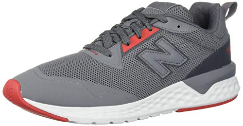 New Balance Men's Fresh Foam 515 Sport V2 Sneaker, Castlerock/Velocity Red, 9 XW US