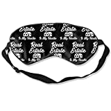 Premium Super Soft Breathable Eye Mask with Adjustable Strap - Real Estate is My Hustle Funny Realtor Gift - Light Blocking Sleep Mask for Travel, Nap, Yoga, Meditation