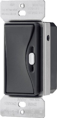 EATON 9530SG Core Aspire 9530 Preset Slide Dimmer, 120 Vac, 600 W, 1 P, 3 W, Silver Granite