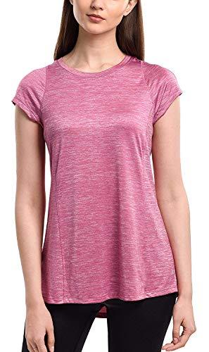 SPECIALMAGIC Lauf Shirt Damen Kurzarm Trainings Basic Sport T-Shirt Rundhals Rosy Mauve L