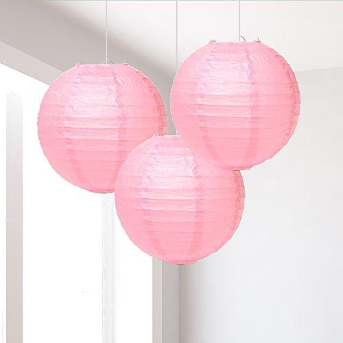 Kleine licht roze lantaarns Pack van 3
