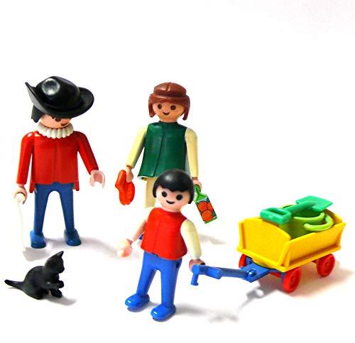 playmobil ® - Familie mit Bollerwagen und Katze