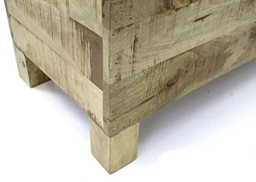 DARO DEKO Mango-Holz Bank 80 x 40 x 45cm - 2
