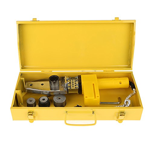 BWLZSP 220V 600W Calefacción controlada por Temperatura PPR PE PP Máquina de Soldadura de Tubos + Kits de Cabezales Enchufe AU, Máquina