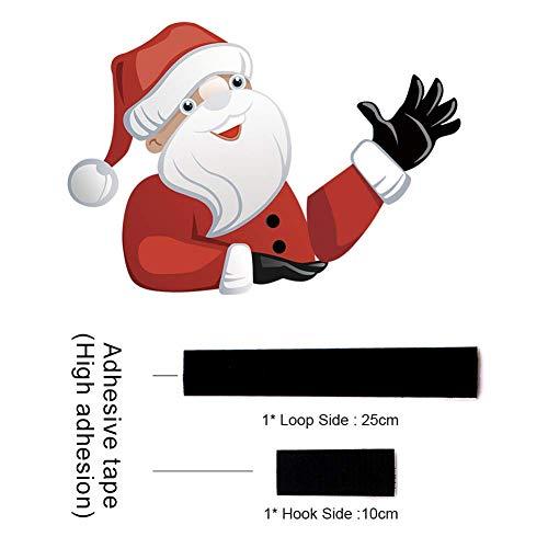 Soulitem auto achter ruitenwisser sticker kerstman kerst voorruit ruitenwisser labels decoratie