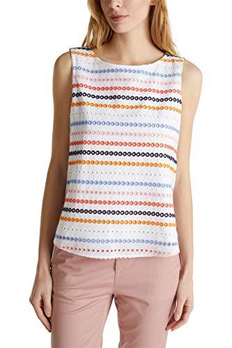 ESPRIT Damen 050EE1F311 Bluse, 100/WHITE, 44