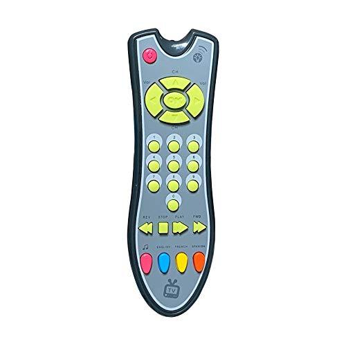 MiOYOOW Aprendizaje Luces Remoto, Bebé Educación Temprana Juguete Simulación TV Control Remoto con Luces Sonidos Juguete Musical para Niños 6 meses +