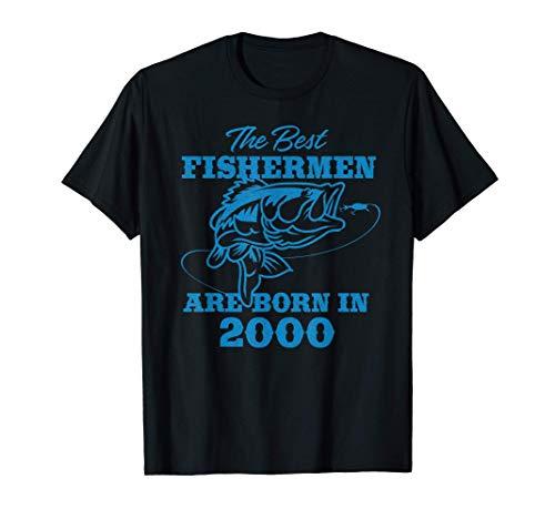 Mens Gift for 21 Year Old: Fishing Fisherman 2000 21st Birthday T-Shirt