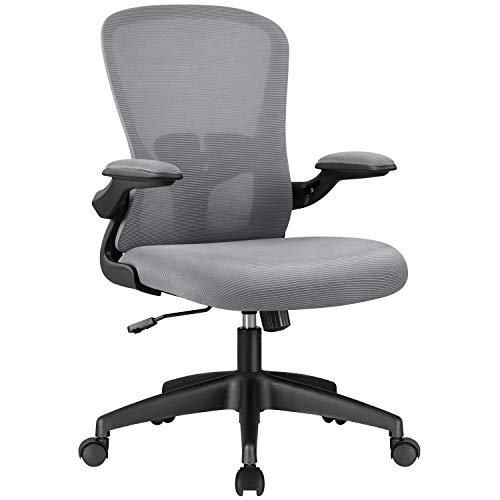 KaiMeng Grey Lumbar Support High Back Ergonomic Computer Chair