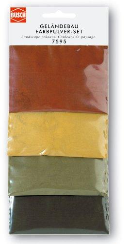 Busch 7595 - Geländebau Farbpulver-Set