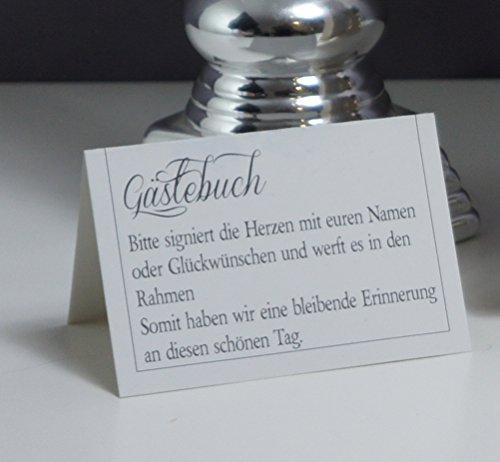 Alternatives Hochzeitsgästebuch, Herzform | Personalisierbar mit Wunschgravur - 6