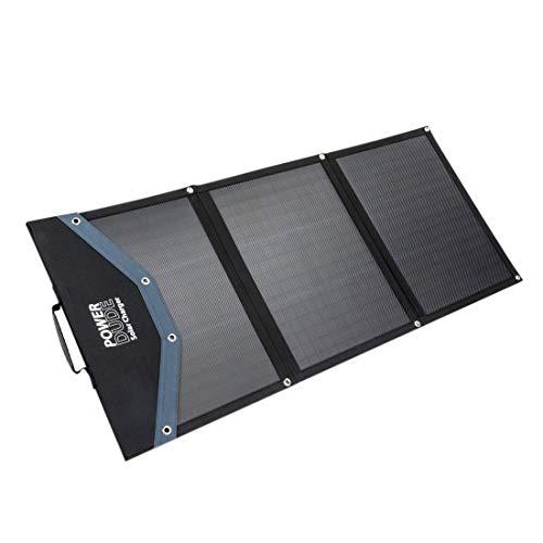 WATTSTUNDE SolarCharger 100W Powerstation Solartasche - faltbares Solarmodul mit 12V DC 7909 Hohlstecker - kompatibel mit vielen Powerstations mit 8mm Rundstecker Eingang