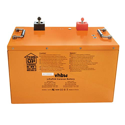vhbw Akku Bordbatterie passend für Wohnwagen, Boot, Camping, Wohnmobil (240Ah, 12.8V, LiFePO4)
