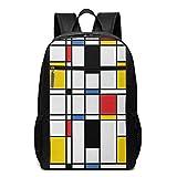 Schulrucksack Geometrische Frequenzweiche, Schultaschen Teenager Rucksack Schultasche Schulrucksäcke Backpack für Damen Herren Junge Mädchen 15,6 Zoll Notebook