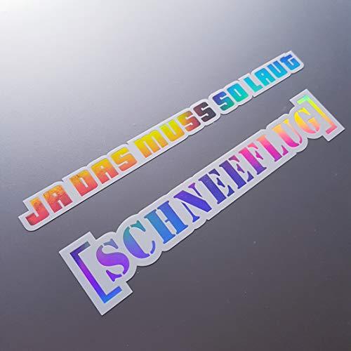 folien-zentrum 2 Set de Pegatinas Oilslick Rainbow Flip Flop Blanco Metallic Efecto Shocker Mano Auto JDM Tuning OEM Dub Decal Stickerbomb Bombing Sticker Illest Dapper Fun Oldschool