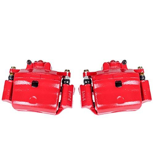 Callahan CCK05269 [2] FRONT Premium Semi-Loaded Red Brake Caliper Pair + Hardware [ fit Ford Fusion MKZ Milan Mazda 6 ]