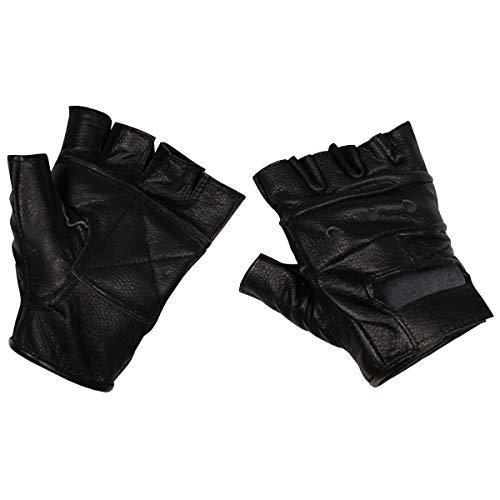 MFH 15514 Lederhandschuhe ohne Finger Deluxe (Schwarz/M)