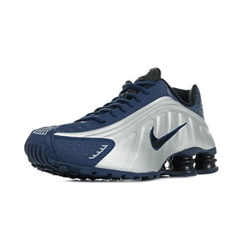 Zapatillas Deportivas de Hombre NIKE Shox R4 en Cuero Azul y Gris 104265-405