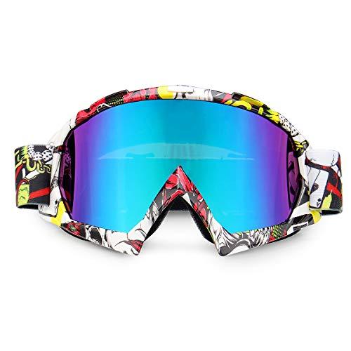 AAlamor Winddichte Motorfiets Racing Bril Anti-UV Verstelbare Skiën Snowboard Ski Goggles Auto
