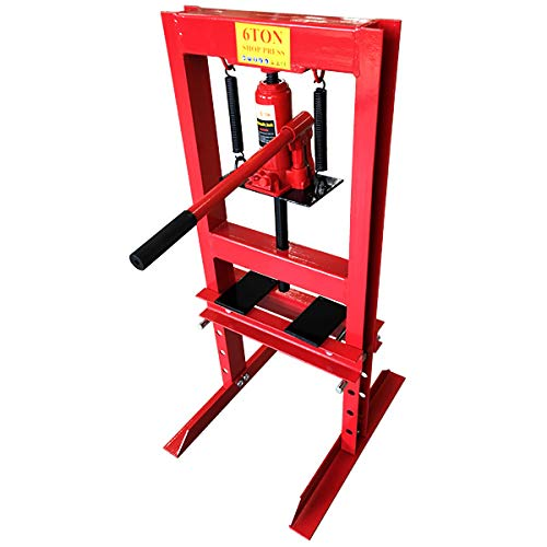 WEIMALL 油圧プレス 6トン メーター無 門型 油圧プレス機 6t 赤 レッド