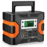 330W Portable Power Station, Flashfish 300Wh 81000mAh Solar Generator CPAP Backup Battery Emergency Power Supply With...