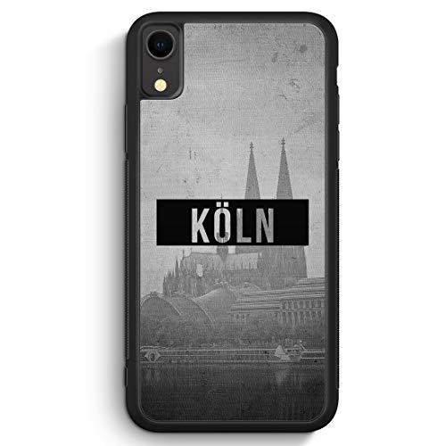 SW Köln - Silikon Hülle für iPhone XR Cover - Motiv Design - Handyhülle Schutzhülle Case Schale