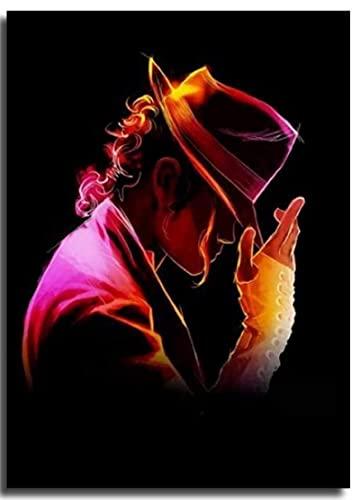 TTbaoz Jigsaw1000 Piece Michael Jackson Puzzles Jouets Éducatifs pour Cadeau d'anniversaire Adulte (38 * 26cm)