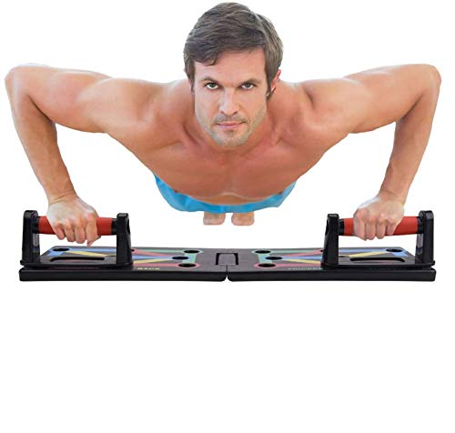 BACKTURE Push Up Board, Faltbar 9 in 1 Push Up Rack Board Train Fitness System Workout Multifunktionale Trainingsständer Fitnessgerät Indoor Arm Trainingsgeräte Outdoor Bauchmuskulatur
