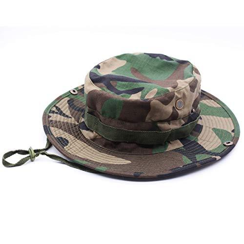 Tactical Boonie Hat Camouflage Wide Brim Top Bucket Outdoor...