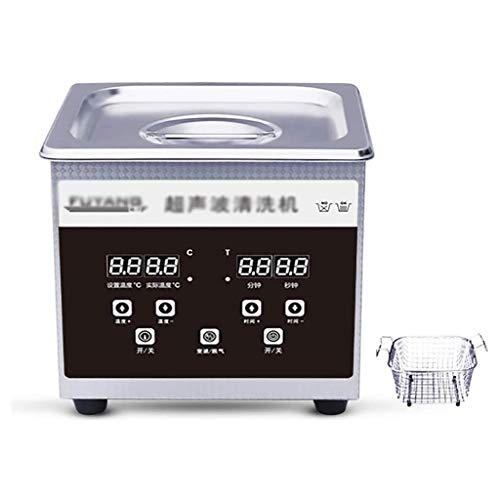 Lcxligang Best Ultrasonic Cleaners Industry Digital Ultrasonic Jewelry Cleaner 30L with Timer Heater Degas Ultrasonic Cleaner Laboratory Stainless Steel Bath Cleaning Tank with Basket (Color : 1.3L)