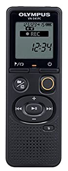 Olympus VN-541PC Voice Recorder with 4GBM PC Link One-touch Recording Black Model VN-541PC Black