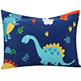 UOMNY Kids Toddler Pillowcases 1 Pack 100% Cotton Pillow Cover Pillowslip Case Fits Pillows sizesd 13 x 18 or 12x 16 for Kids Bedding Pillow Cover Baby Pillow Cases Dinosaur Kids' Pillowcases
