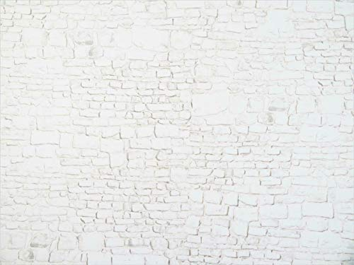 Melody Jane Casa de Muñecas Relieve Blanqueado Piedra Pared Exterior Bricolaje Tarjeta Hoja 1:12 Escala