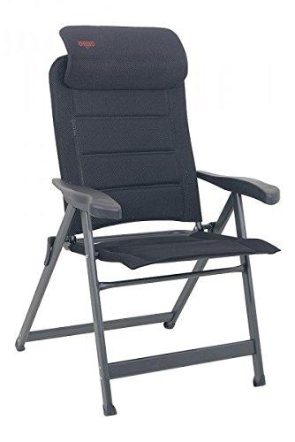 Klapstoel compact luxe met uittrekbaar hoofdeinde - CRESPO - 7 standen verstelbaar - anatomisch gevormd. - Aluminium - campingstoel luxe - 120 cm leuning - 5,6 kilo licht - stabiel - aluminium ovale stoel - exclusieve stoel - kleur zwart - 140 kilo belastbaar - holly sunshade - tegen meerprijs leverbaar met holle paraplu's - Holly® producten STABIELO - INNOVATIONEN MADE in Duitsland - holly sunshade ® -