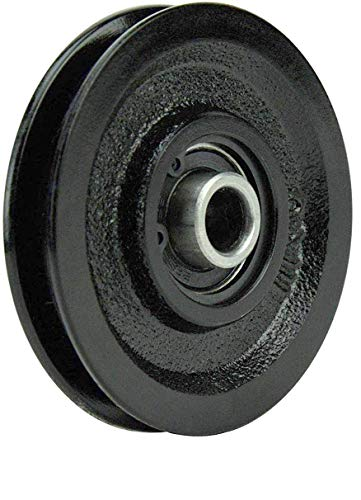 Buy Bargain Garage Door Pulley 3 Inch Heavy Duty Cast Iron Pulley with Bearing Garage Door Opener Pulley (4)