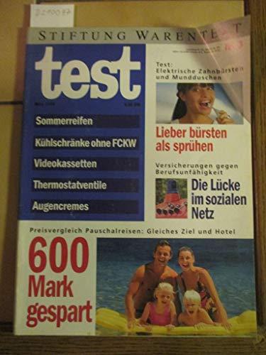 Stiftung Warentest Heft Nr. 3 / 1994: Sommerreifen, Kühlschränke ohne FCKW, Videokassetten, Thermostatventile, Augencremes, Elektrische Zahnbürsten