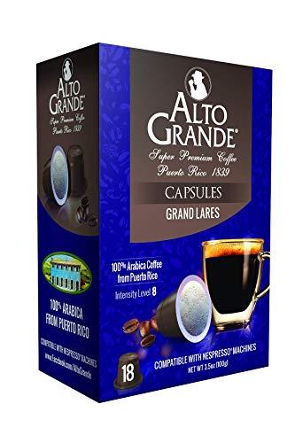 Alto Grande Super Premium Capsules for Nespresso Machines, 100 Percent Arabica Coffee From Puerto Rico (Grand Lares, 18 Count)