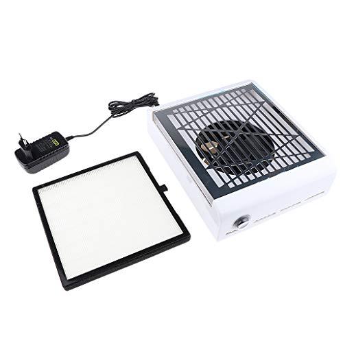 Aspirador Tabla Aspirador Polvo de Clavo para Colector Polvo para Manicura ULTRAVIOLETA de Limpiador Clavo de Gel - B